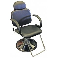 Italica 6763AP Reclining All Purpose Hair Styling or Eye Brow Threading Chair With Headrest