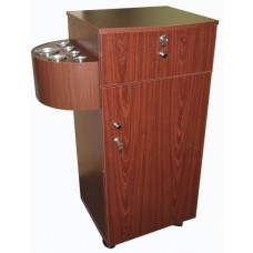 Italica 2529 Portable Styling Cabinet In Cherry Color Laminate Speedy Shipping