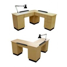 Collins 45417- L Shape Special Made Manicure Table Made Just For You