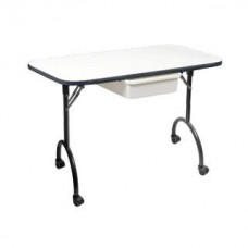 AS IS White Folding Portable Manicure Tables Beat Boxes New Manicure Tables AS IS