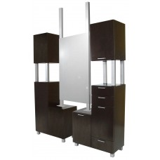 COL-941-66 Amati Tall Bi Level Styling Station