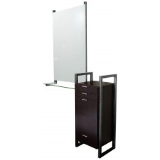 COL-963-18 Enova AR Styling Station With Steel Sides Free Standing