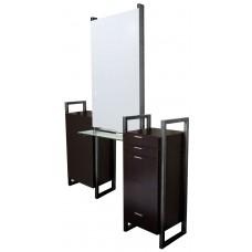 COL-964-66 Enova AR Back to Back Island Styling Stations for 2 Stylists Including Mirrors