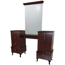 COL-896-66 Bradford Twin Styling Vanity Including Queen Anne Legs