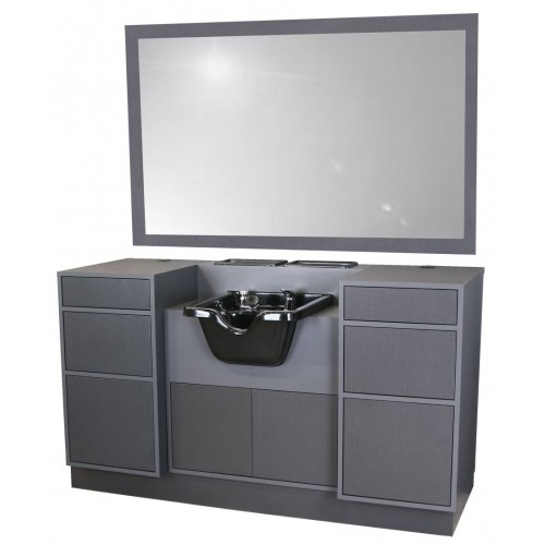 Collins 6626-66 Edge 66 Barber Station With CB19 Shampoo Bowl