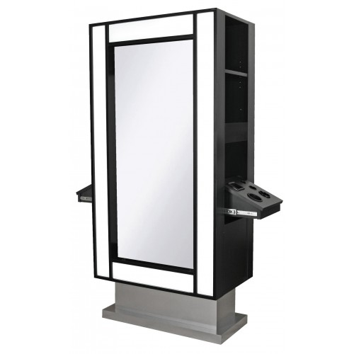 Collins 6675-36 LOX Formula Styling Island Station With LED Lit Mirrors
