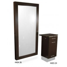 Collins 4404-36 Sean Patrick Salon Full Size Hair Salon Framed Mirror
