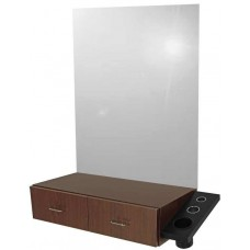 Jeffco J01 Java Wall Mount Hair Styling Vanity With Side Tool Panel