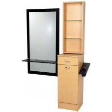 Jeffco J08 Java Hair Styling Station Tower With Retail Display USA Made