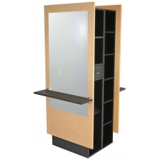 Jeffco J11 Java Back To Back Space Saving Island Station With Mirror For 2 Hair Stylists