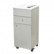Pibbs PB54W Rolling Styling Cabinet Stainless Steel With Stone Top