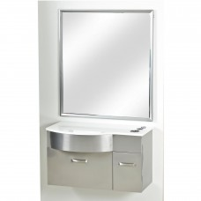 Pibbs PB52W Wall Mounted Stainless Steel Station With Mirror