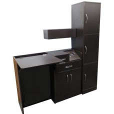Salon Suite Hair Styling Room Featuiring CS04 Cabinet/ No Shampoo Bowl Provided