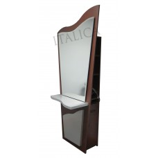 Italica DM001 Single Free Standing Station With Large Mirror Tool Panel and Storage