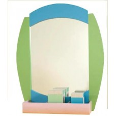 "Kids Salon Mirror 31""W  X 38""H With Product Storage Area 343021"