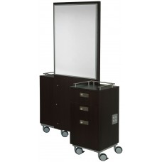 BEL-KA108-2 Kalli Back To Back Island Station With KA108 Portable Styling Cabinet