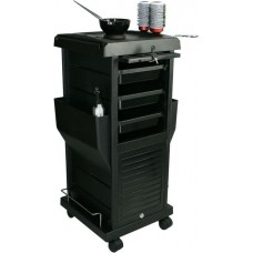 100B Deluxe Locking Hair Color & Beauty Utility Cart Metal Frame From Italica