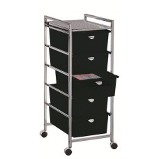 Pibbs D25 Beauty Cart 5 Deep Drawers From Pibbs