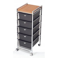 Pibbs D28 Italian Beauty Cart 5 Deep Drawers & Laminated Wood Top