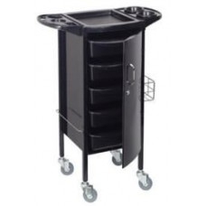HT02 Locking Metal Beauty Salon Trolley With Tool Holders By Paragon
