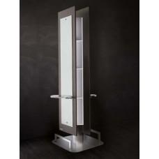 SAL-Salon Ambience Barcelona Island Italian Mirror Back to Back For 2 Stylists (MI/074)
