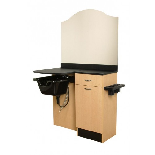 Collins 3342-47 Cameo Shampoo Wet Booth Hair Styling Salon or Suite Station