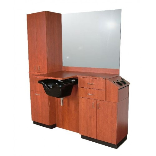 Collins 5515-66 Extra 39Hi Shampoo Wet Booth Barber Station