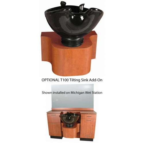 Collins T100 Tilting Shampoo Bowl Option For Shampoo Areas