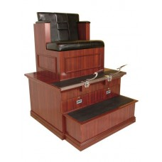 9040B Bradford Shoe Shine Booth Single Seat Made In The USA