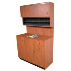 Collins 3388-48 Cameo Hair Coloring Center With Stainless Steel Sink 48W x 21D x 79H