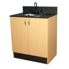 3373-32 Organizer Base Cabinet With Stainless Steel Sink Plus Drawers Cabinets From Collins