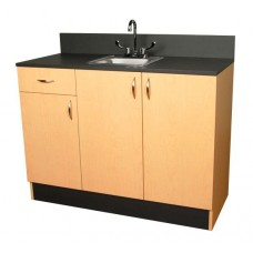 3373-48 Organizer Base Cabinet With Stainless Steel Sink Plus Drawers & Cabinets From Collins