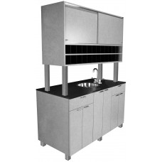946-60 Self Standing Hair Color Island For Hair Salons Middle Floor Unit