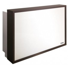 SAL-RD/031W Salon Ambience Wenge Color Millennium Reception Desk With Lighted Pane