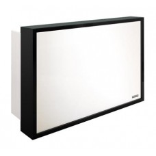 SAL-RD/031B Salon Ambience Black Color Millennium Reception Desk With Lighted Panel