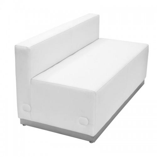 Salon Reception Loveseat Sofa White Ready To Ship Free