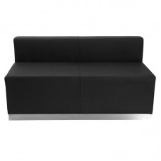 Free Shipping 803 Reception Waiting Room Loveseat Sofa Black