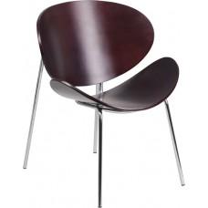 Free Shipping 2268 Mahogany Reception Chair Stylish