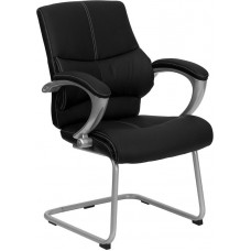 Free Shipping 9637 Black Leather Reception Chair Free Shipping High Quality