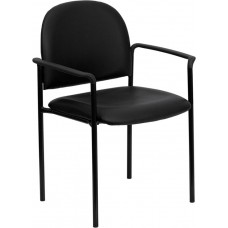 Free Shipping 516 Black Vinyl Reception Waiting Room Chair