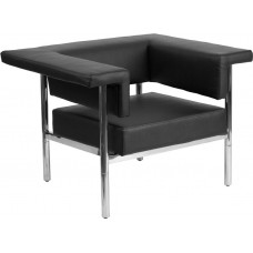 Free Shipping 8811 Black Leather Single Modern Reception Chair