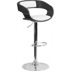 2634 Two Tone Adjustable Height Make Up Stool 34.25 - 42.75''H FREE SHIPPING