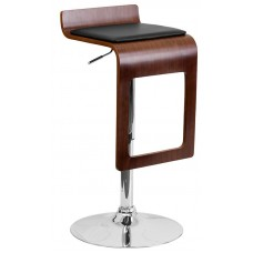 2075 Walnut Bentwood Padded Make Up Stool 26-34''H FREE SHIPPING