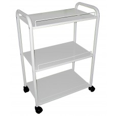 Italica 8000-1 All Metal White Facial Skin Care or  Waxing Trolley For Esheticians