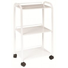 8000 Facial Trolley Powder Coated Assembled White Metal Skin Care Trolley From Italica