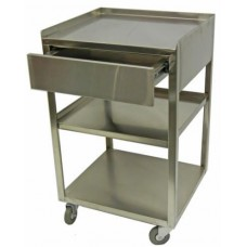 Italica S11 Solid Stainless 3 Shelf Steel Trolley With 1 Drawer