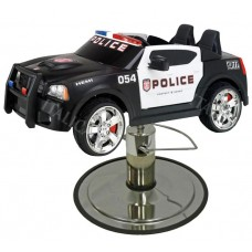 Police Charger Kids Police Car Styling Chair With Your Choice of Base