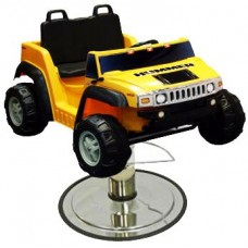 Yellow Hummer Kids Styling Chair SUV From Italica Beauty Equipment