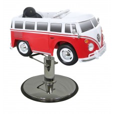 Red VW Bus Styling Chair With Your Choice of Base