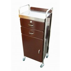 Super Deal -Beauty Trolley PT05 All Purpose Locking Stainless Top Steel Rims